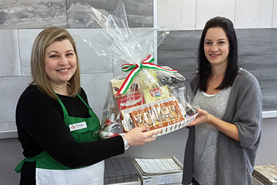 TileTown Italian Days Gift Basket Winner Alice van Zanten
