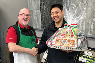 TileTown Italian Days Gift Basket Winner Ray Sun