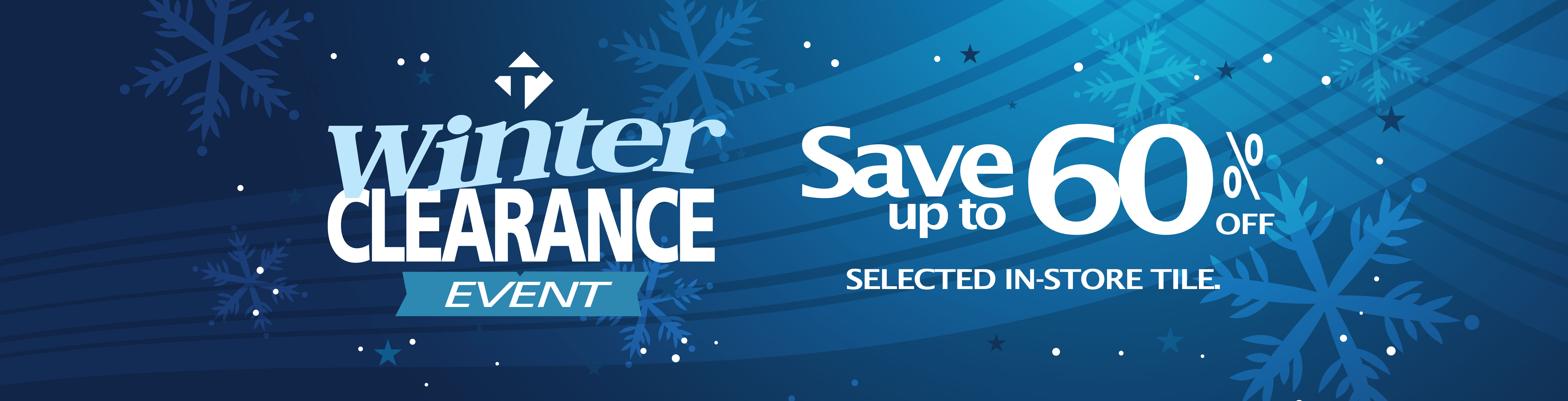Save 60% on selected in-store tile